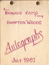 brownie autograph book